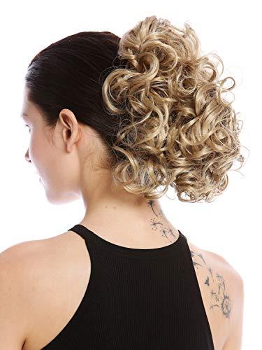 WIG ME UP - MKB-22-V-25 Postiche couette queue de cheval peigne court volumineux boucle blond