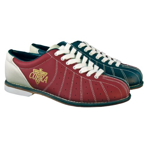 Cobra Bowling Products Damen TCR1L Cobra Rental Bowling-Schuhe, Schnürsenkel, Rot/Blau, Größe 40