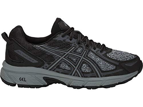 ASICS Women's Gel-Venture 6 Trail Running Shoes, 11, Black/Stone Grey