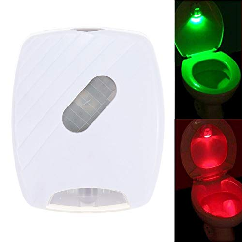 GKJRKGVF Toiletbril Nachtlampje Smart Sports Toilet Cover Sensor Licht Gebruikt 2 * AA Toiletbril Backlight