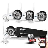 WOSECU 8CH Wireless Security Camera System,...