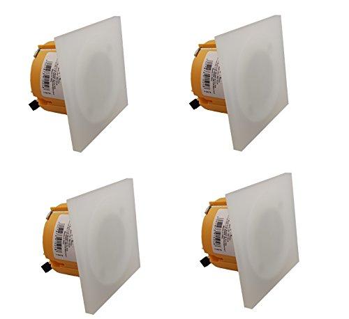4x 3W LED wandlamp inbouwverlichting voor 68/60mm ISO inbouwdoos licht/wanddoos vloerverlichting inbouw plafondlamp lamp