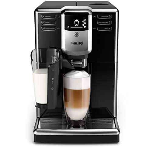 Philips Macchine da Caffè Automatiche Serie 5000 LatteGo EP5330/10 Macchina da Caffè Automatica con Macine in Ceramica e Filtro AquaClean, Caraffa LatteGo, 6 Bevande, Nero