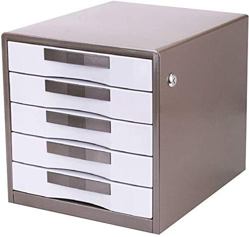 Organizador de Archivos Archiveros Verticales 5 cajón de la Oficina del almacenaje del Metal Gabinete de Almacenamiento de Gris ⭐