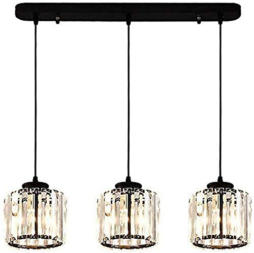 Waqihreu Crystal chandelier, dining room ceiling lamp, wrought iron vintage chandelier, adjustable height, used for hanging lights in living room, bedroom, office