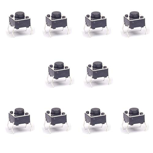 Movilideas - 10x Micro Pulsador SWITCH 6x6x5 mm PCB 4 PINES CORTOS.