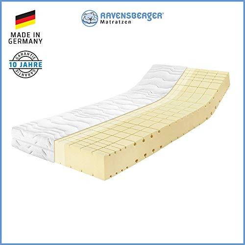 RAVENSBERGER Komfort-SAN® 50 | HR-Kaltschaummatratze | H3 RG 50 (80-120 kg) | Made in Germany - 10 Jahre Garantie | MEDICORE silverline®-Bezug | TÜV-Zertifiziert | 90 x 200 cm