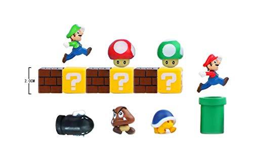 EXM Personajes Super Mario 14 Nevera 3D, imanes para pancartas para Calendari, Pared de Metal Juguetes para Niños Adornos Decoración collezionismo Nintendo