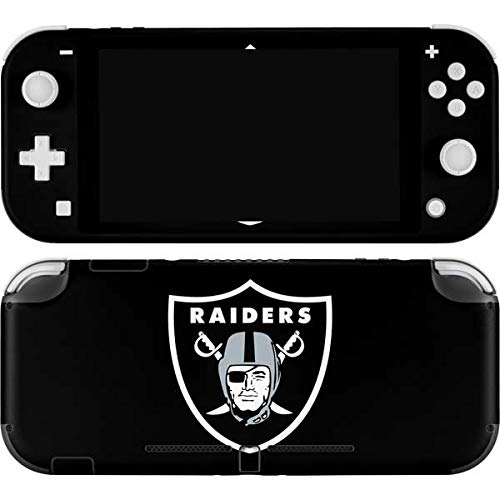 Skinit Decal Gaming Skin Compatible with Nintendo Switch Lite - Officially Licensed NFL Las Vegas Raiders Large Logo Design
