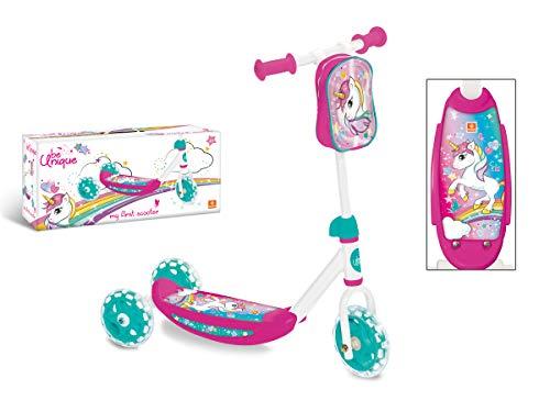 Mondo Toys - My First Scooter UNICORN - Monopattino Baby bambino/bambina - 3 ruote - borsetta porta oggetti inclusa - 28538