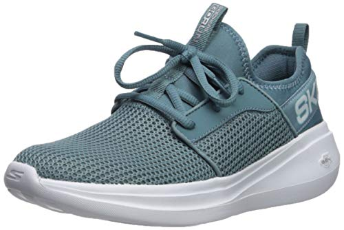 Skechers Women's GO Run Fast-Valor Sneaker, Blue, 6 M US