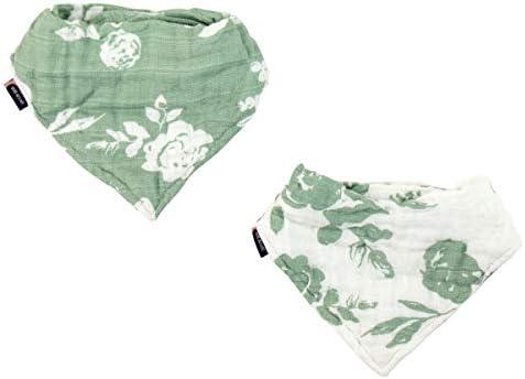 Bebe au Lait Classic Muslin Bandana Bib Set Vintage and Modern Floral product image