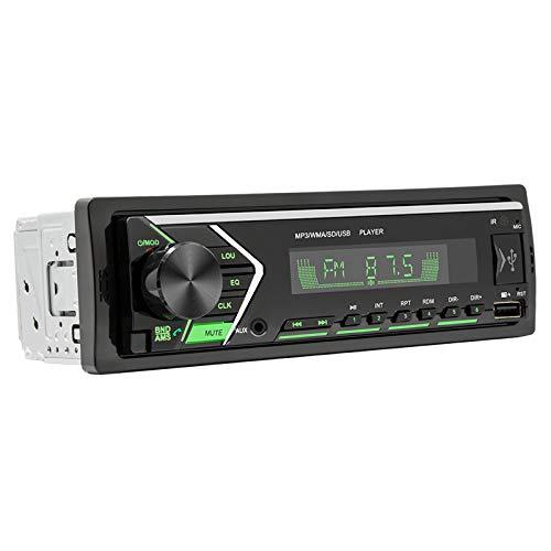 Gazechimp Receptor de Reproductor de CD Estéreo de Audio de Calidad para Automóvil con Llamada de Manos Libres USB Dual Auxiliar de Bluetooth