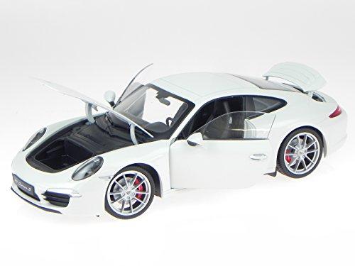 Porsche 911 991 Carrera S weiss Modellauto 18047 Welly 1:18