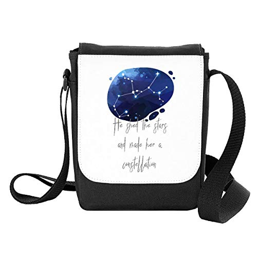Zodiac Star Sign Aquarius He Shed The Stars and Made Her A Constellation Shoulder Bag - Small