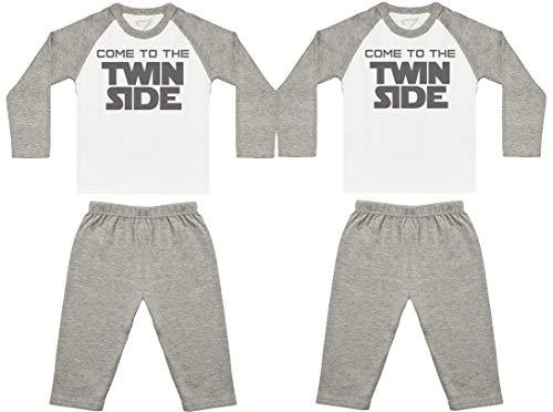 Come To The Twin Side Pijama de bebé, Ropa de Dormir del bebé, Regalo para Gemelo del bebé
