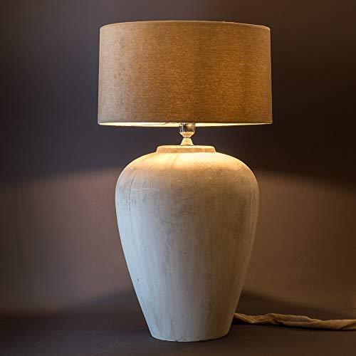 tapidecor PIE DE LAMPARA Ceramica Blanca Forma ANFORA SIN Pantalla