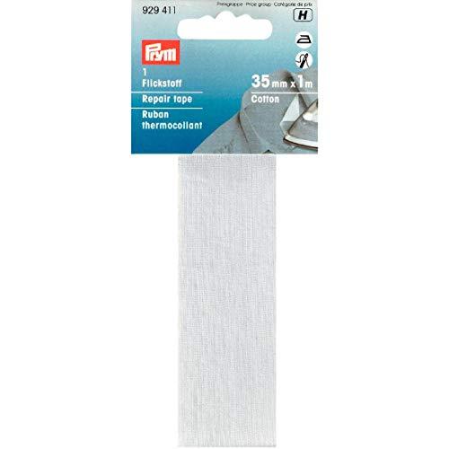 Prym 3,5x 100cm/0,035M² Baumwolle Reparatur-Klebeband, weiß