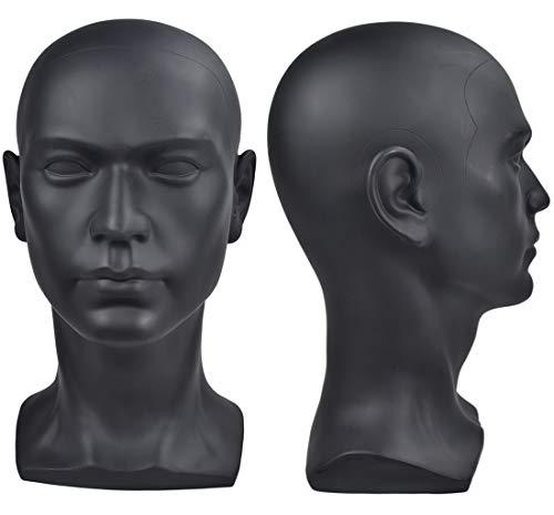 Maniquíes de plástico de los hombres de la cabeza maniquí realista de la peluca masculina maniquí de la cabeza para el sombrero de la exhibición de gafas de sol Maniquí de la cabeza