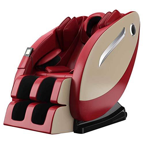 Sillón De Relax Shiatsu Sillón Sillón Masajeador Todo El Paquete Del Airbag Del Cuerpo/La Gravedad Cero/LED De Funcionamiento/Conexión De Audio Bluetooth De Instalación/Gratuito,Rojo