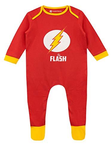 DC Comics Pijama Entera para Niños Bebés The Flash Rojo 0-3 Meses