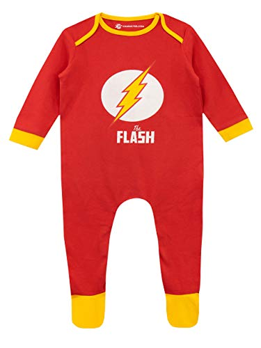DC Comics Baby Boys' The Flash Footies Size 12M Red