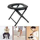 KJGLXD Töpfchen Kommode Stuhl Schwerlast Stahlkommode Sitz Nachttisch für Erwachsene Medical Behinderung Toilleten Sitz