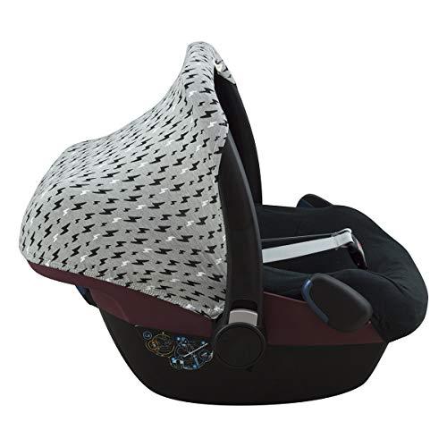 JANABEBE Capota compatible con Maxi-Cosi Pebble Bebe Confort (BLACK RAYO)