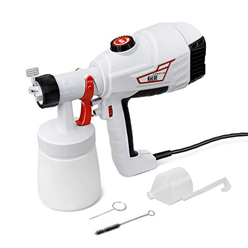KeLDE 600W High Power Paint Sprayer, 900ml/min HVLP Home Electric Spray Gun with 3 Spray Patterns for Fence, Cabinet and Furniture