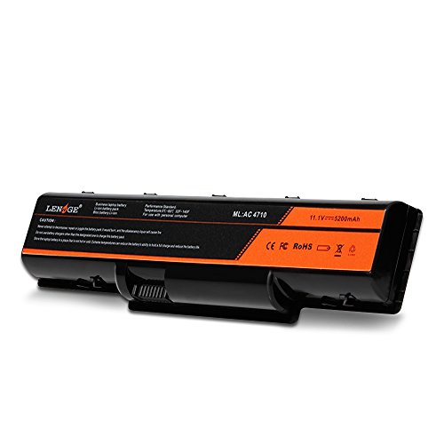 LENOGE Acer AS07A51 AS07A31 Laptop Battery 11.1V 5200mAh Fit Acer Aspire 4220 4710 5235 5335 5542G 5738G 5740G 4710G 4720G, Replacement for AS07A75 AS07A72 AS07A71 AS07A52 AS07A42 AS07A41 AS07A32