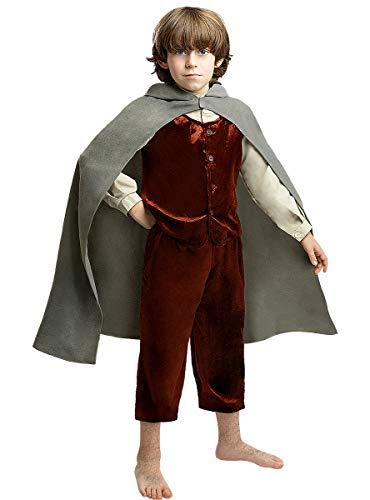 Funidelia | Disfraz de Frodo - El Señor de los Anillos Oficial para niño Talla 7-9 años  El Hobbit, Películas & Series, El Señor de los Anillos, Lord of The Rings (LOTR) - Color: Gris / Plateado