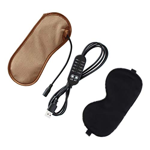 menolana Máscara Ocular USB Aquecedora Compressa para Olhos Seda para Olho Seco, Blefarite, Máscara para Dormir