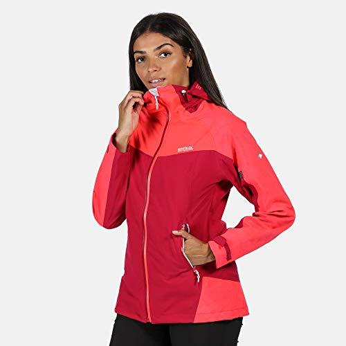 Regatta Oklahoma V Waterproof Shell Jacke Damen Dark Cerise/neon pink Reflective Größe UK 16 | DE 42 2020 Funktionsjacke