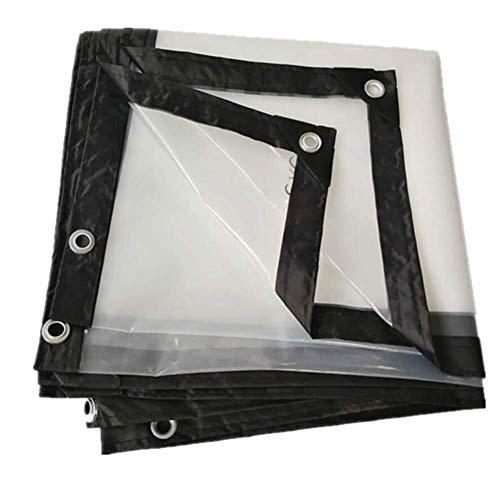 MSF dekzeil transparant waterdicht zware plaat regendicht met metalen gat oog kunststof, 24 maten