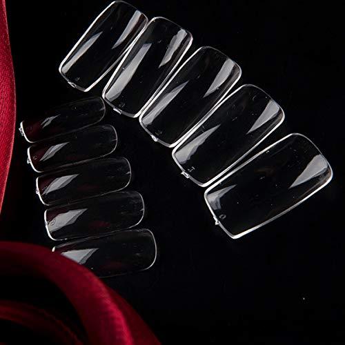ネイルチップ 500枚入れ 10サイズ DIYネイル つけ爪 ネイル用品 フルカバー ショート デコレーション 無地 透明 付け爪 練習用 爪にピッタリ
