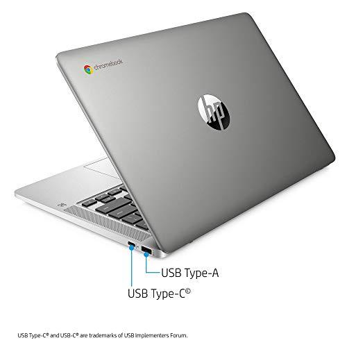 "41RTRDXLbqL. SL500 2020 Flagship HP 14 Chromebook Laptop Computer 14"" HD SVA Anti-Glare Display Intel Celeron Processor 4GB DDR4 64GB eMMC Backlit WiFi Webcam Chrome OS (Renewed)"