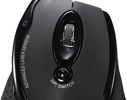 Adesso iMouse G25 - Wireless Ergonomic RF Laser Mouse