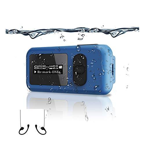 Lettore musicale MP3 impermeabile 16G Nuoto Surf Beach più di 10 ore di riproduzione Radio FM e funzione contapassi Bluetooth