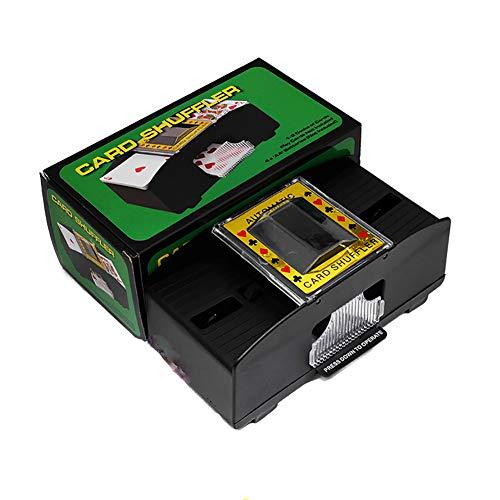 SZYGX Barajar Máquina Cartas Casino Mezcla De Mezcla Electrónica De La Máquina para Barajar Los Naipes Funciona con Pilas Mezclador para Poker, Rummy, Etc. Tarjeta Clasificador