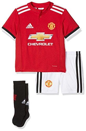 adidas MUFC H Baby Conjunto Equipación-Línea Manchester United FC, niños, Rojo (rojrea/Blanco/Negro), 80