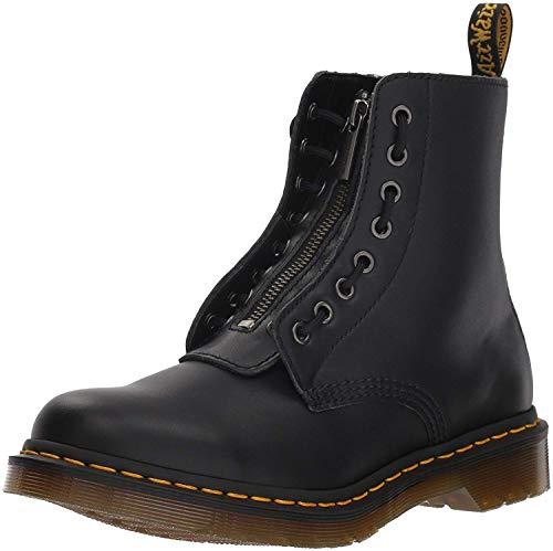 Dr. Martens Women's 1460 Pascal FRNT Zip Nappa Mid Calf Boot, Black, 6