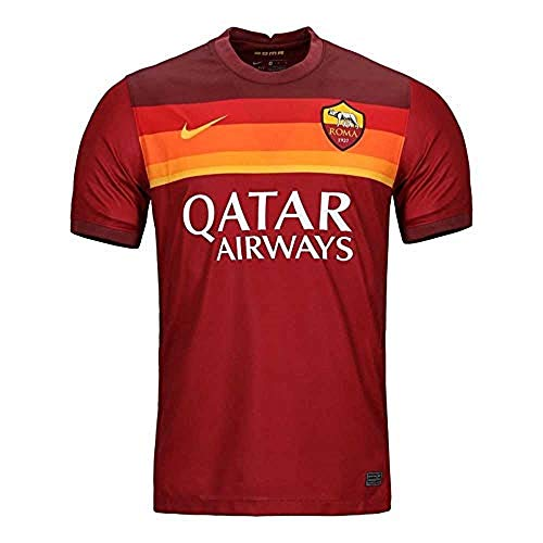 Nike 2020-2021 AS Roma Home Football Soccer T-Shirt Jersey