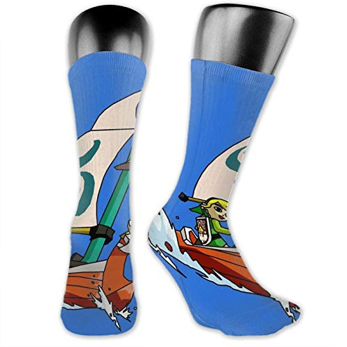 Cell Shaded The Wind Waker Unisex Fun Novelty Mid-Calf Boot Socks Fashion Breathable Dress Crew Socks