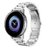 Hatolove 20mm Correa Compatible con Samsung Galaxy Watch Active/ Active 2, Pulsera de Repuesto de Acero Inoxidable Banda de Metal para Galaxy Watch 42mm/Gear S2 Classic/Gear Sport/Galaxy Watch 3 41mm