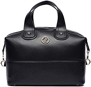 Zeneve London Blomsburry Satchel Bag For Women - Black