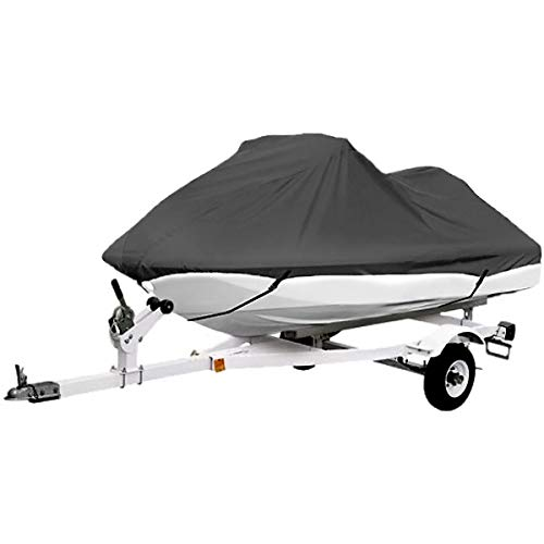 North East Harbor Gray Trailerable PWC Personal Watercraft Cover Covers Fits 2-3 Seat Or 136'-145' Length for Waverunner, Sea Doo, Jet Ski, Polaris, Yamaha, Kawasaki Covers