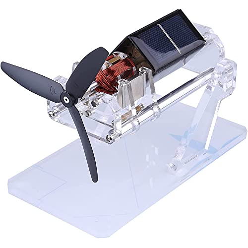 WFGZQ Levitación Magnética Motor Solar Física Solar Aspa De Ventilador Doble Levitación Magnética Motor Modelo Educativo Hecho A Mano Adornos De Levitación Magnética Creativos Mendocino