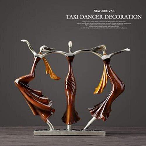 PA Decorazioni Figurine Scultura Danza europea in resina Donna Figurine Decorazione Arredamento per...