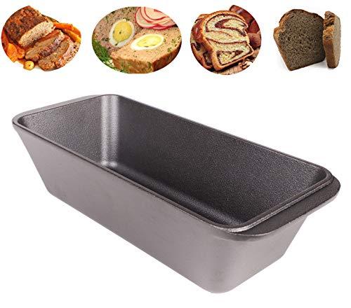 WEES-CK bereits eingebrannte Gusseisen Kastenform - Brotbackform, Königskuchenform, Auflaufform, Bräter 28,5x12x7,5 cm (Preseasoned)