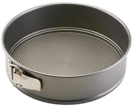 wxqym Bakeware Kuchenform aus Stahl, antihaftbeschichtet, 22 cm, Grau (Farbe: Springform)